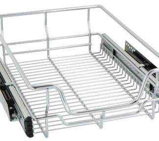 Economy Wire Basket Chrome 400mm unit F.E.with Softclose
