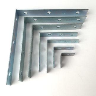 152mm Corner Brace Inside Or Outside Fixing Zinc Plated Finish