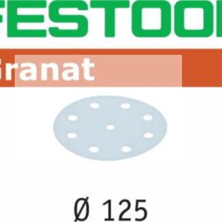 Festool Granat Sanding Discs STF D125/8 P320 GR/1 Pack of 100