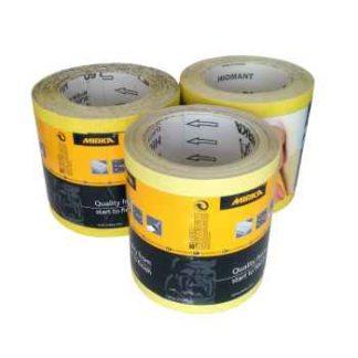 Mirka Hiomant Yellow Abrasive Roll 115mm x 10 Meter P40 Grit
