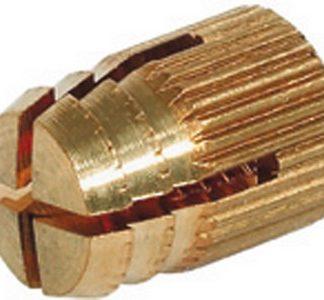 Hafele 051.45.004 Brass Spreading Dowel Sleeve M4/5mm, Pack Of 10