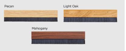Exitex 914mm Brush Strip Concealed Fixing Light Oak