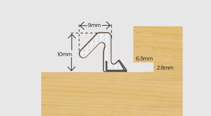 Exitex 250 Meter Roll Aquatex A10 Brown