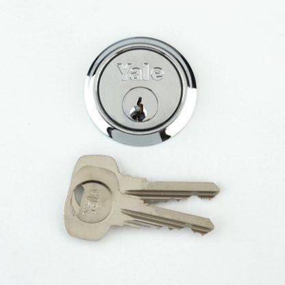 Yale Chrome Cylinder With 2 Keys