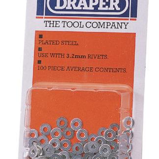 Draper 100 x 3.2mm Rivet Backing Washers : RIV/W