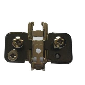 BLUM CLIP mounting plate, cruciform, 0 mm, steel, EXPANDO, HA: cam: 174H7100E Onyx Black