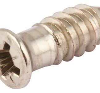 Hafele Varianta Euro Screw 13.5mm Nickel Plated, Pack Of 100