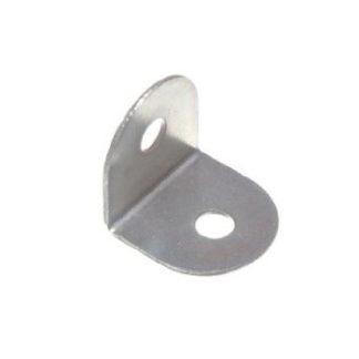 Steel Angled Bracket In Zinc Finish, 19mm x 19mm x 19mm