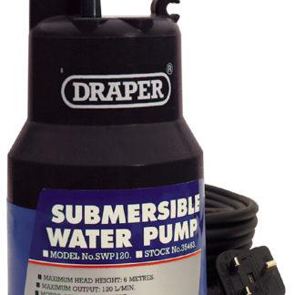 Draper 120L/Min (Max.) 200W 230V Submersible Water Pump : SWP120