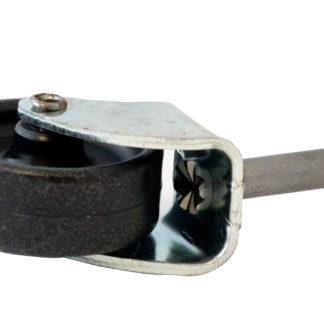 Bed/Upholstery Castor 41mm Black/Zinc