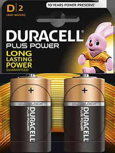Duracell Battery MN1300 LR20 D Pack of 2