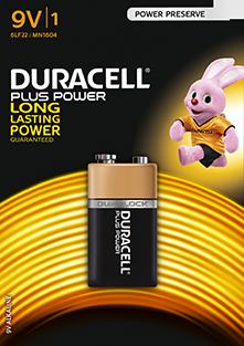 Duracell Battery MN1604 6LR61 9V
