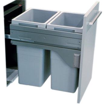 Hafele 503.70.912 Euro Cargo Waste Bin 2 x 35 Ltr for 450mm Cabinet