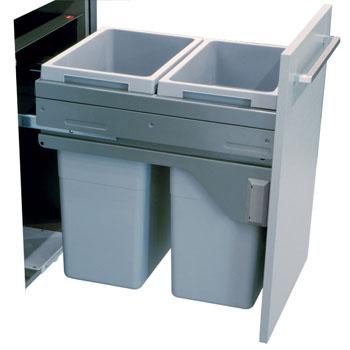Hafele 503.70.922 Euro Cargo Softclose Waste Bin 2 x 35 Ltr for 450mm Cabinet