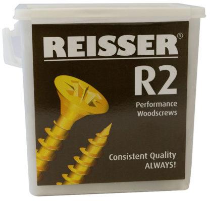 Reisser R2 Tub 5mm x 50mm Pack of 600 Countersunk Recess Woodscrew