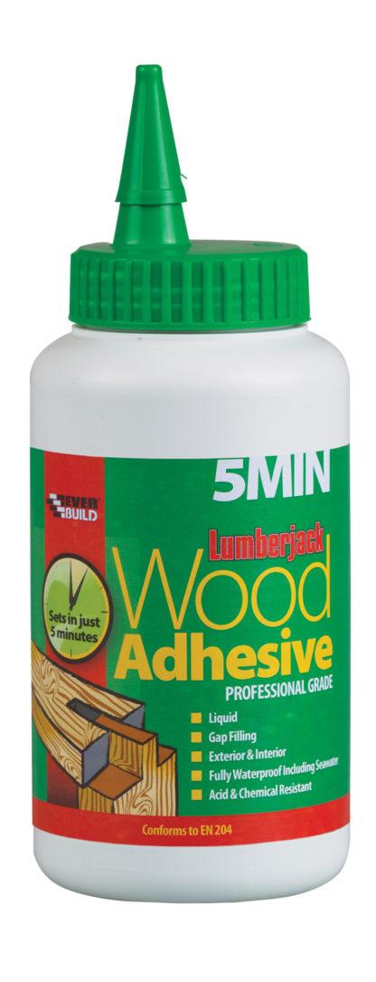 750g Lumberjack 5 Minute Polyurethane Wood Adhesive