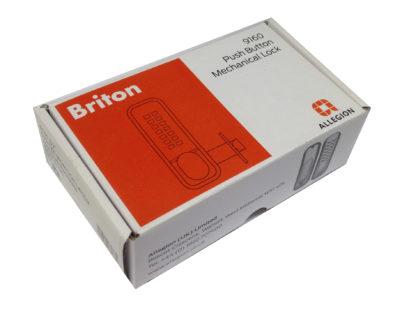 Briton 9160 Push Button Mechanical Lock Satin Chrome