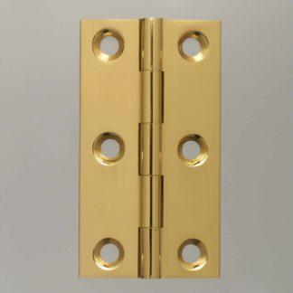 Bronzed Butt Hinge 63mm x 35mm Unwashered Brass