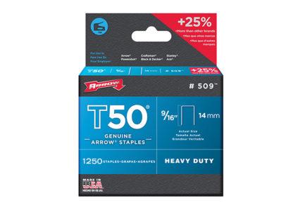 Arrow T50 Staples Box 1250 14mm - 9/16 in