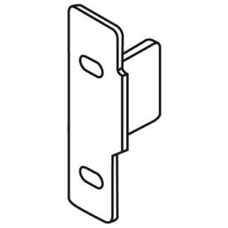 BLUM METABOX front fixing bracket, height N, screw-on, left: ZSF.1510