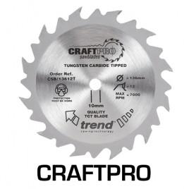 Trend Craft Saw Blade 136mm Diameter x 24 Teeth x 20mm Thin