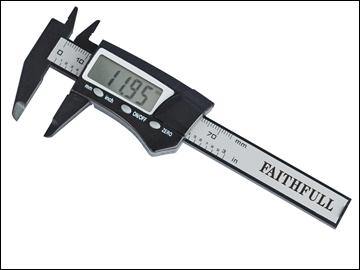 Faithfull Digital Caliper 75mm Carbon Fibre