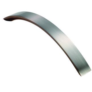 FTD FTD270ASN Curved Convex Grip Handle 128mm Satin Nickel