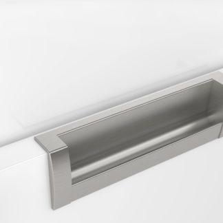 Crofts & Assinder D-Beschlag Inset Handle 335mm Hole Centre Brushed Satin Nickel