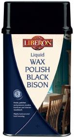 Liberon Liquid Wax Polish Black Bison Medium Oak 500 ml