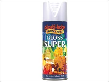 Plastikote Spray Gloss White 400ml