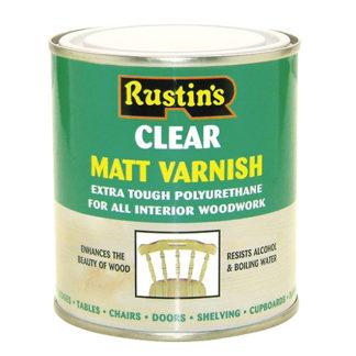 Rustins Polyurethane Varnish Matt Clear 500 ml