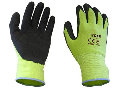 Scan Yellow Foam Latex Coated Glove 13g Large