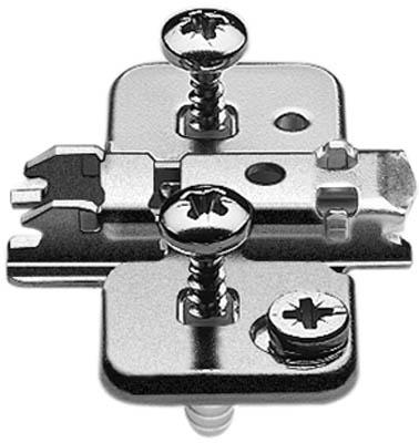 BLUM CLIP mounting plate, cruciform, 0 mm, steel, EXPANDO, HA: cam: 174H7100E