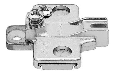 BLUM MODUL mounting plate, cruciform, 0 mm, zinc, system screws, HA: two-part: 195H9100