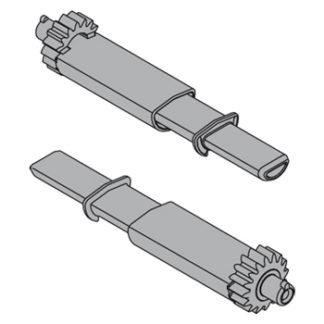 BLUM TIP-ON pinion (set), Connector half-round: T55.000R