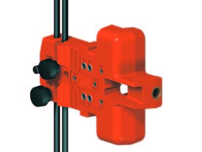 BLUM Drilling template BLUMOTION door damper, handle side: 65.5000