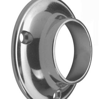 Tube Support End Socket25mm Dia. die-cast Chrome