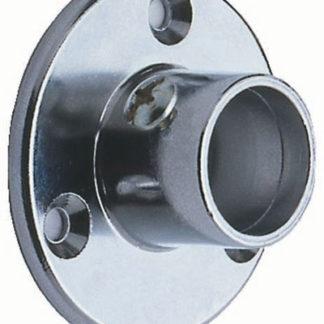 Tube Support Deep Neck Socket with screw 32mm Dia.Aluminium - Chrome