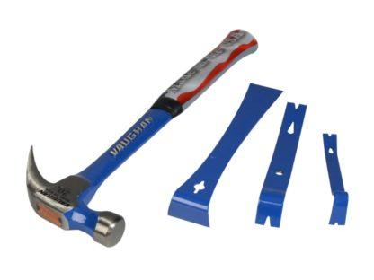Vaughan 560g/20oz Hammer With 3 Piece Bar Set