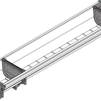 Blum Orga-Line Container, for Tandembox Antaro Drawer, 500 mm x 103 mm - ZSI.500BI1N