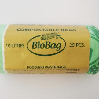 BioBag Biodegradable Caddy Bin Liner Bags 10L