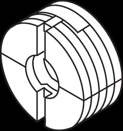 BLUM Front adjustment bracket, knock-in: 295.1000