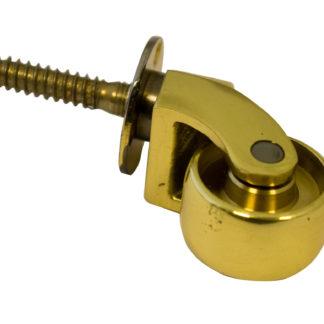 Screw Plate Castor 25mm Polish Brass Finish
