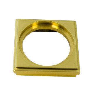 Square Castor Ring 30mm Polish Brass Finish