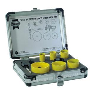 Faithfull Holesaw Kit 9 Piece Electricians 16-51mm