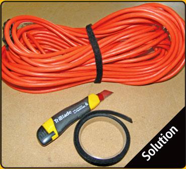 Fastwrap 1/2 Inch x 10 Foot Long Hook & Loop Roll