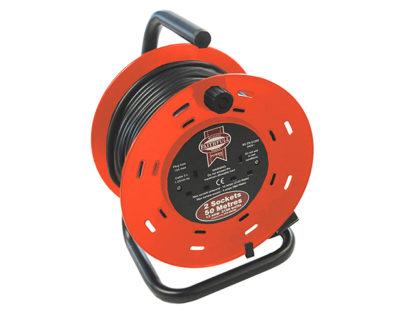 Faithfull Power Plus Cable Reel 50 Metre 13 Amp 230 Volt