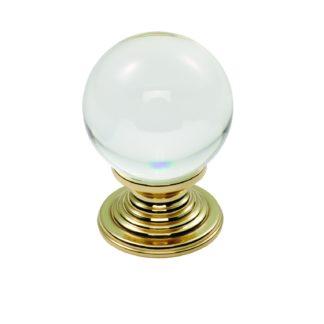 Carlisle Brass Crystal Ball Knob Clear