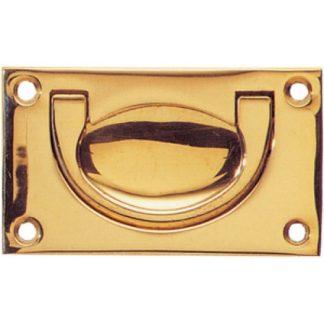 1752 Flush Handle 102mm Polish Brass Finish