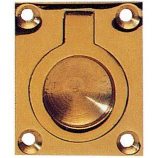 Armac Martin 2122 Brass Flush Ring 64mm Polish Brass Finish